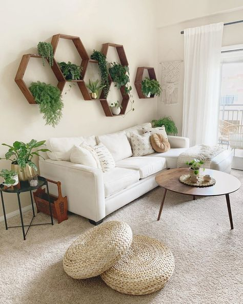 Find out Where to Buy Every Single Thing in This Plant-Filled Bohemian Living Room | Hunker #livingroomdecoration