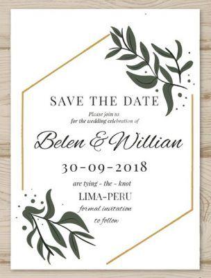 Desain Undangan Pernikahan Elegan Unik Minimalis 17