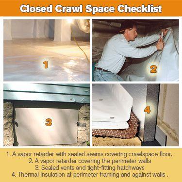 Diy crawlspace encapsulation remodling homes pinterest crawl diy crawlspace encapsulation remodling homes pinterest crawl spaces basements and spaces solutioingenieria Gallery
