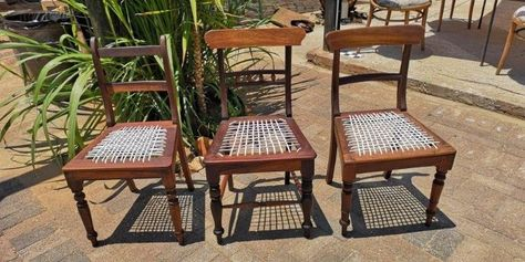 Vintage Stinkwood Dining Room Chairs X 14 3 Different Styles J