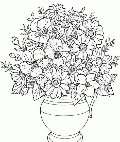 Resultado De Imagen Para Ramillete De Flores Para Dibujar Bonitas