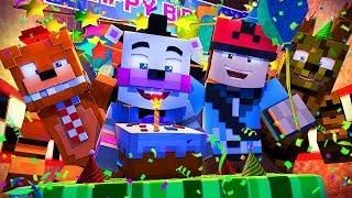 Minecraft FNAF 6 Pizzeria Simulator - HELPYS BIRTHDAY