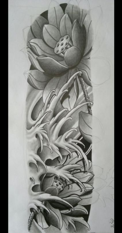 68 Super Ideas For Tattoo Flower Sleeve Draw Japanese Flower Tattoo Flower Tattoos Flower Tattoo Sleeve