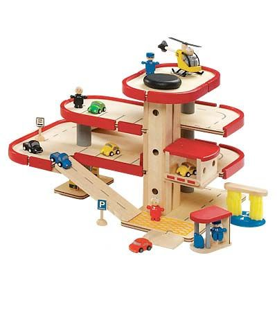 Plan City Parking Garage Wooden Toys A Little Boy S Dream Come True It S All Made In Thailand From Ecologically Friendly Rubberwood Wooden Toys Toys Wooden