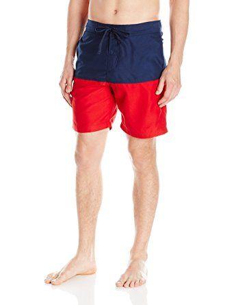 Balboa Mens Striped Swim Trunk