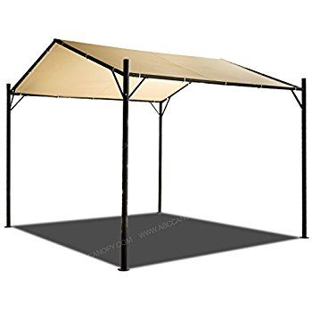 Abccanopy 10x10 Patio Garden Gazebo Style Outdoor Canopy Carport Garden Instant Shelter Beige Carport Car Canopy Patio Storage