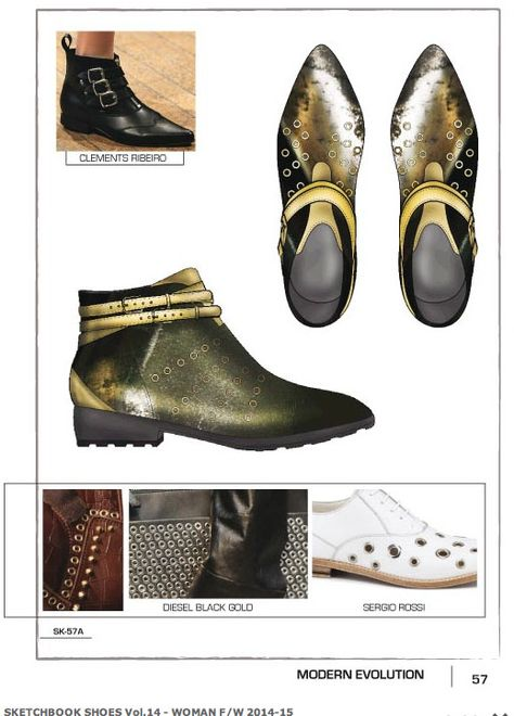 Close-Up Sketchbook Shoes F/W trends , is presented in several themes thru comprehensive sample of e very trend has a .