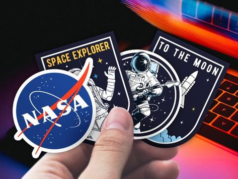astronaut apollo cool space car window decal sticker