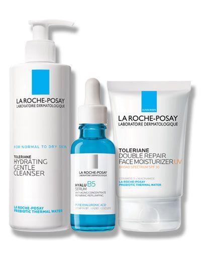 Dry Skin Care Set La Roche Posay In 2020 Oil Free Facial Moisturizer Dry Skin Body Moisturizer For Sensitive Skin