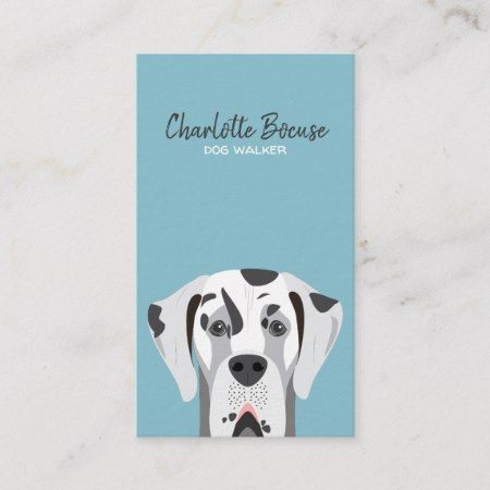 Great Dane Dog Harlequin Black And White Business Card Zazzle