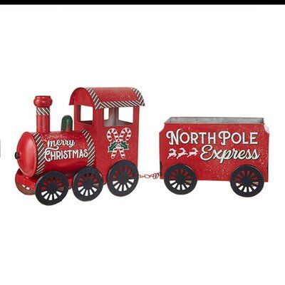 The Holiday Aisle 2 Piece North Pole Express Train Set Christmas Toy Train Christmas Train Cardboard Train