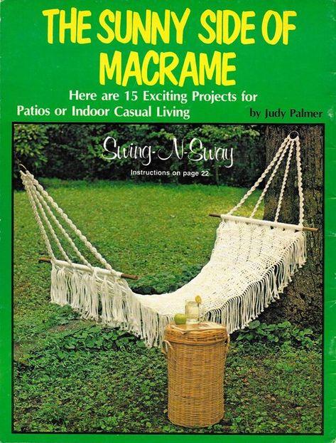 Vintage Macrame Metal Hexagon Frame /& Basket Pattern Project Book Green Gables
