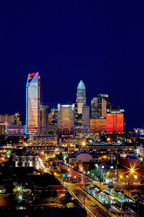charlotte, nc   Charlotte NC skyline as seen from Charlotte's south side   Patrick ...