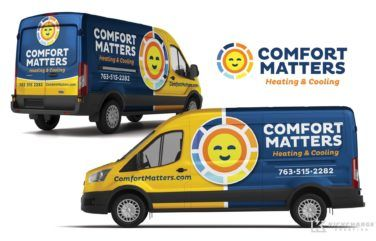 Truck Wrap Design For Comfort Matters Heating Cooling Car