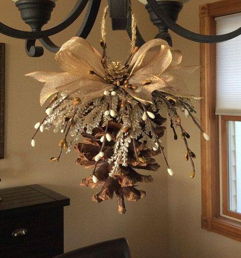 #christmas #pinecone #ornament #handmade #natural #h - #christmas #handmade #natural #ornament #pinecone - #DollarTreeCraftsChristmas