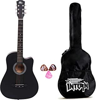 March 04 2020 At 10 48pm Intern 38 Inch Cutaway Design Black Acoustic Guitar With Picks Carry Bag In 2020 Black Acoustic Guitar Broken Guitar Acoustic Guitar Kits