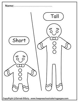 Set Of Gingerbread Man Opposites For Kids Opposites For Kids Opposites Preschool English Worksheets For Kids