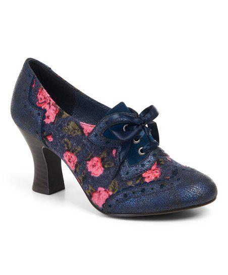 fb21314bc7f Ruby Shoo Blue Floral Daisy Pump - Women   zulily   shoes & handbags ...