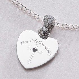 Costume Necklaces and Pendants Personalised First Holy Communion Day Necklace with ANY Engraving for Girls.