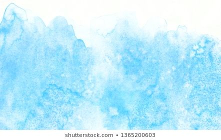 Light Sky Blue Shades Frame Illustration Grunge Aquarelle Painted