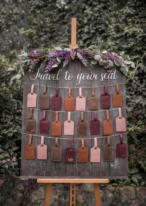 Grab some must-have inspiration for friends, family and yourself! Go classy with a plain leather and monogram/name, or add some wanderlust vibes with a beautifully stamped quote. Luggage Tags Wedding, Wedding Favors, Wedding Decor, Our Wedding, Jack Johnson, Leather Luggage Tags, Personalized Tags, Good Find, Wanderlust
