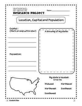 Research Paper Outline- Report- State Research Outline
