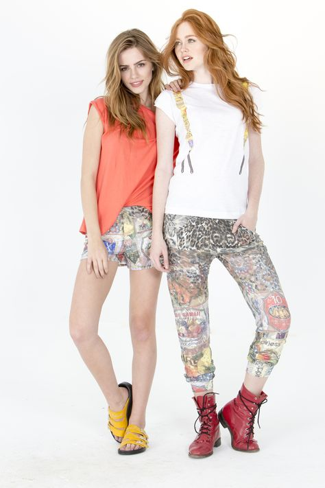 Get these looks here! LOOK 1 -  Top: http://www.shophappiness.com/top-west-corallo.html Shorts: http://www.shophappiness.com/pantaloncini-cuba-leo-pizzo-multicolor.html LOOK 2 -  Top: http://www.shophappiness.com/t-shirt-donna-bretelle-cuba.html Pants: http://www.shophappiness.com/pant-turca-cuba-leo-pizzo-multicolot.html
