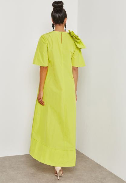Buy Femi9 Green Bow Detail Shift Dress For Women In Manama Other Cities Fr18 00000047 Shift Dress Dresses Green Bows