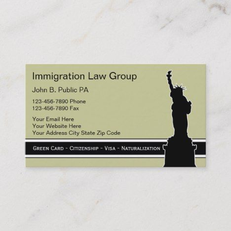 Immigration Attorney Business Cards Zazzle Com Attorney Business Cards Cool Business Cards Unique Business Cards