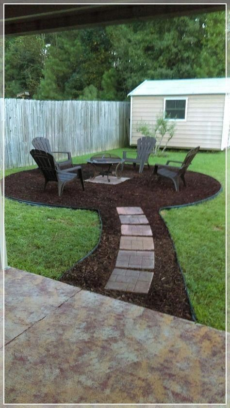 Simple Easy And Cheap Diy Garden Landscaping Ideas For Front Yards And Backyards Click Image For More Details Landscapingideas F In 2019 Fire Pit Backyard Backyard Landscaping Backyard Patio