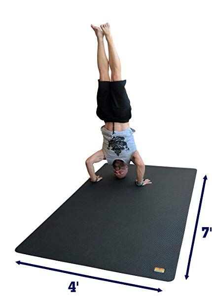 Pogamat Large Yoga Mat And Stretching Mat 7ft X 4ft X 7mm Thick 84 X 48 Anti Tear Non Slip Exercise Yoga Mats Large Yoga Mat Mat Exercises Cardio Workout
