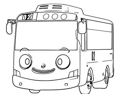 Gambar Mobil Tayo Tayo Sketsa Kartun Gambar