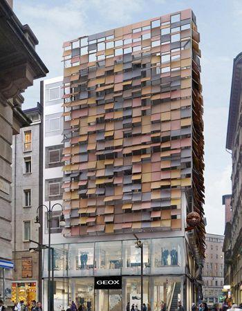 the latest f81c3 3e7ab Lamiera forata e bugnata per l'architettura: Milano, Palazzo ...