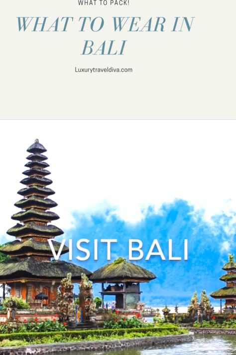 Bali is hot and humid. Read my 'What to Pack' for Bali blog for my packing list. #bali ##balitravel #whattowear