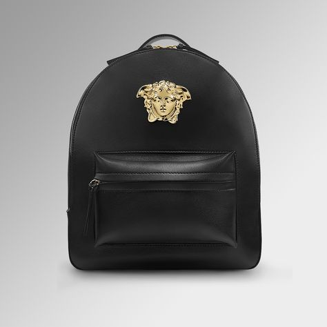 c33c99ef86e8 Versace Handbags Medusa Palazzo White Nappa Leather Backpack (€2.045) ❤  liked on Polyvore featuring bags