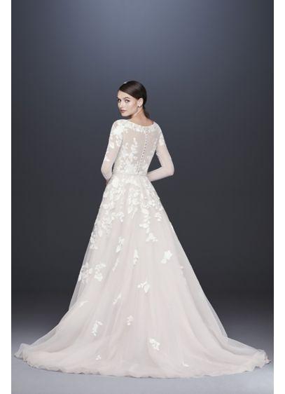 4e02739d2fe3 Illusion Sleeve Plunging Plus Size Wedding Dress | David's Bridal | Wedding/Elope  in 2019 | Wedding dresses, Tropical wedding dresses, Shift wedding dress