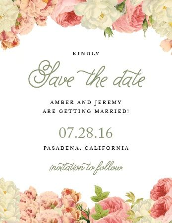 Alluring Florals Save The Date Magnets In 2019 Wedding