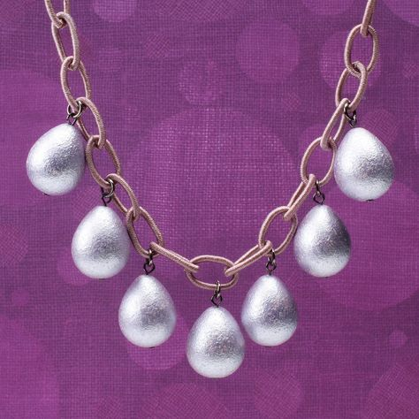 """New life for Lucite"" downloadable project. Gather all the radiant orchid beads from your stash and make something to celebrate the 2014 color of the year! BeadStyleMag.com"