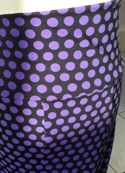 jupe flamenco pois noir et violet coton t 42 44 46 de fifi soleki sur DaWanda.com