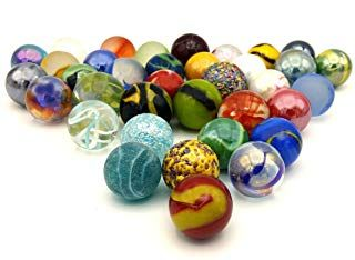 Mega Marbles Glass Shooters Set Of 50 Assorted Colored Bulk 1 Shooter Marble For Games Vase Fish Aquarium Decorations Aquarium Decorations Shooter Glass