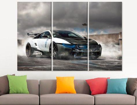 Tesla Motors Model X SUV Car Auto Race Poster Canvas Print Art Decor Wall