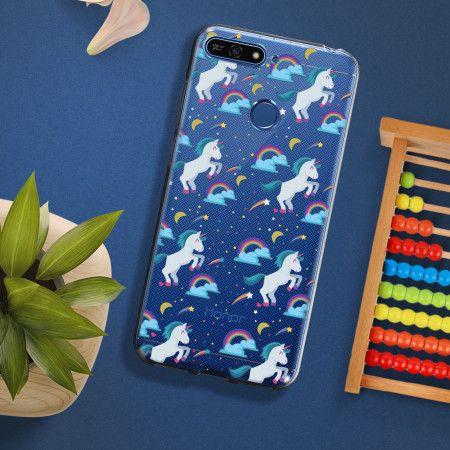 Coque souple Huawei Y6 2018 / Honor 7A motifs licornes colorées ...