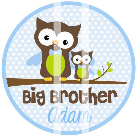 Big Brother Owl Iron on Transfer