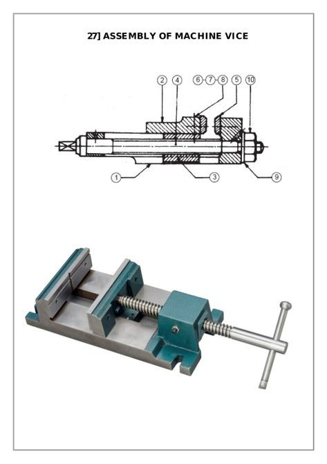 Assembly and Details machine drawing pdf | Mechanisms in