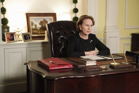 Kate Burton as Vice President Sally Langston in Scandal Season 3.