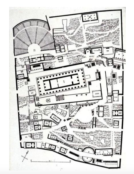 Temple Of Apollo Delphi Greece 3rd 4th Century In A Complex No Axial Entrancee Not Linear First View Is A Ancient Greek Architecture Delphi Ancient Maps