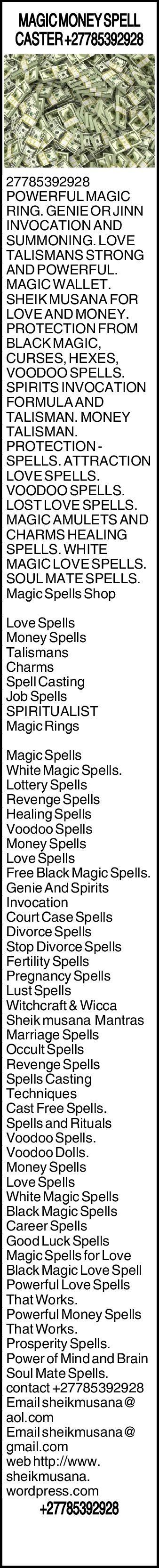 POWERFUL MAGIC MONEY SPELL CASTER +27785392928 (musananoah) on Pinterest