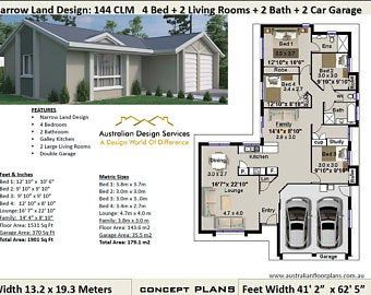 140 M2 1506 Sq Foot 3 Bedroom House Plan 140st Etsy House Plans Australia House Plans For Sale Affordable House Plans