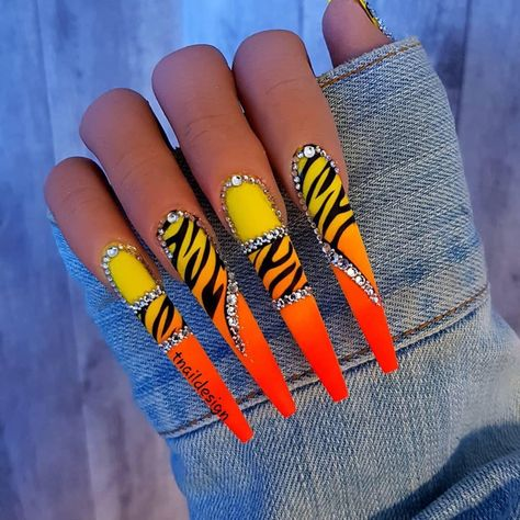 Apr 2020 - Beautiful nails by 😍 Ugly Duckling Nails is dedicated to keeping love, support, and positivity flowing in our industry ❤️ Zebra Nails, Bling Nails, Stiletto Nails, Gel Nails, Summer Acrylic Nails, Best Acrylic Nails, Nail Swag, Cute Acrylic Nail Designs, Zebra Nail Designs