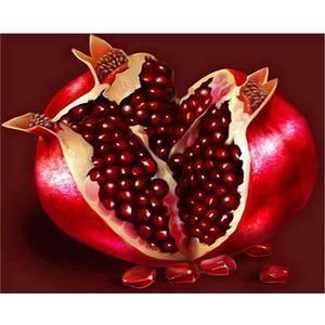 5d Diy Diamond Painting Kit Full Drill Square Diamond Mosaic Diamond Embroidery Fruit New Tool Pomegranate Art Fruit Painting Fruit Picture